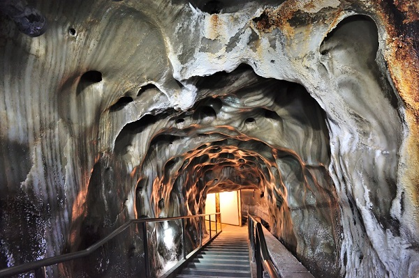 Inside of salt mine