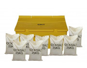 7 Cu Ft Grit Bin with 8x 25 kg Bags of White Rock Salt
