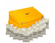 14 Cu Ft Heavy Duty Grit Bin with 16x 25 kg Bags of White Rock Salt