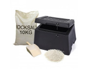 30 Litre Lockable Mini Recycled Grit Bin Winter Pack