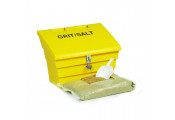 2 Cu Ft Grit Bin Winter Pack Lockable - 50 Litre / 50 kg capacity