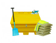 6 Cu Ft Grit Bin Winter Pack Lockable - 175 Litre / 175 kg capacity