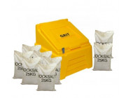 7 Cu Ft Heavy Duty Grit Bin with 8x 25 kg Bags of White Rock Salt